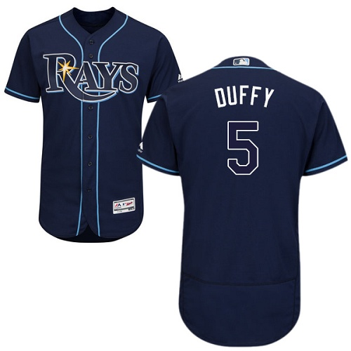 Rays #5 Matt Duffy Dark Blue Flexbase Authentic Collection Stitched MLB Jersey