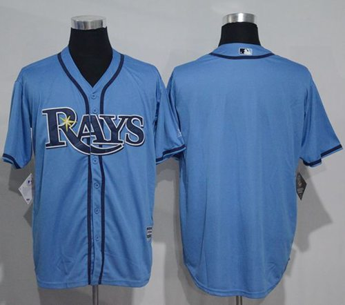 Rays Blank Light Blue New Cool Base Stitched MLB Jersey