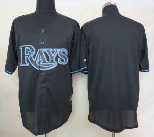 Rays Blank Black Fashion Stitched MLB Jersey