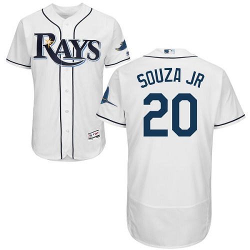 Rays #20 Steven Souza White Flexbase Authentic Collection Stitched MLB Jersey