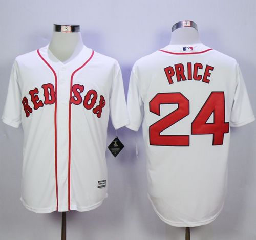 Red Sox #24 David Price White New Cool Base Stitched MLB Jersey