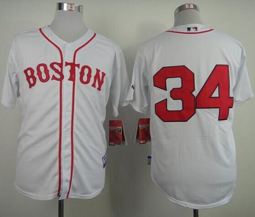 Red Sox #34 David Ortiz White Stitched MLB Jersey