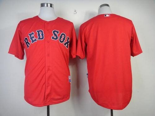 Red Sox Blank Red Cool Base Stitched MLB Jersey