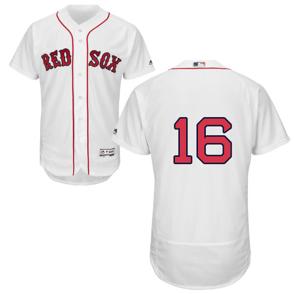 Red Sox #16 Andrew Benintendi White Flexbase Authentic Collection Stitched MLB Jersey