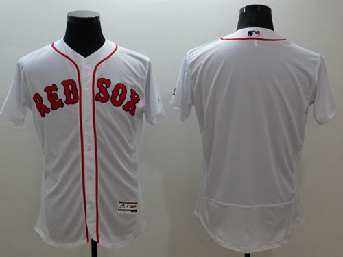 Red Sox Blank White Flexbase Authentic Collection Stitched MLB Jersey