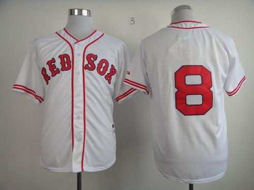 Red Sox #8 Carl Yastrzemski White 1936 Turn Back The Clock Stitched MLB Jersey