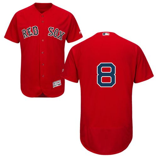 Red Sox #8 Carl Yastrzemski Red Flexbase Authentic Collection Stitched MLB Jersey