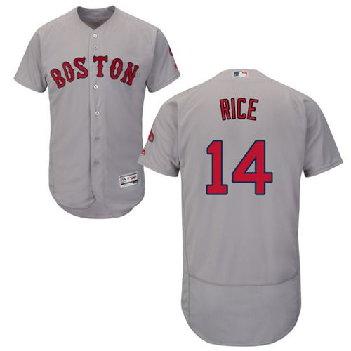 Red Sox #14 Jim Rice Grey Flexbase Authentic Collection Stitched MLB Jersey