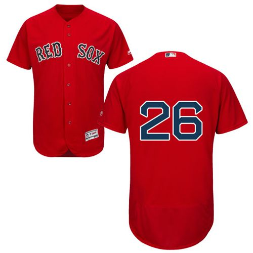 Red Sox #26 Wade Boggs Red Flexbase Authentic Collection Stitched MLB Jersey