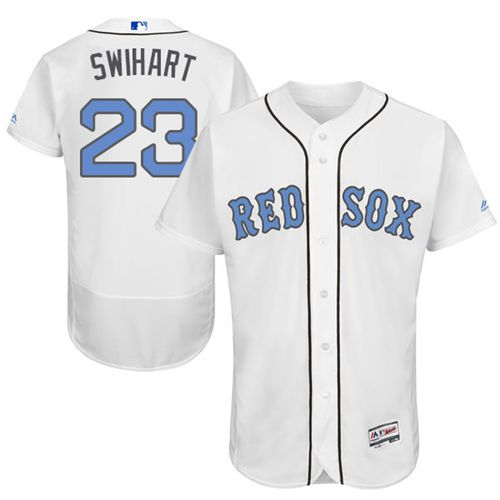 Red Sox #23 Blake Swihart White Flexbase Authentic Collection Father's Day Stitched MLB Jersey