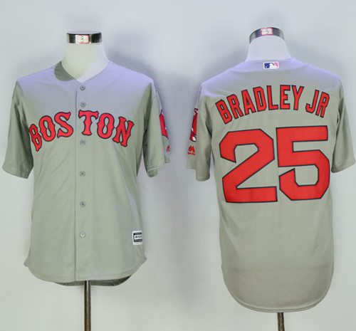 Red Sox #25 Jackie Bradley Jr Grey New Cool Base Stitched MLB Jersey
