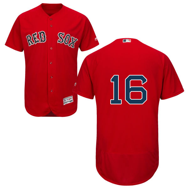 Red Sox #16 Andrew Benintendi Red Flexbase Authentic Collection Stitched MLB Jersey