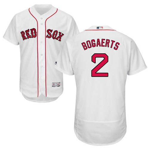 Red Sox #2 Xander Bogaerts White Flexbase Authentic Collection Stitched MLB Jersey