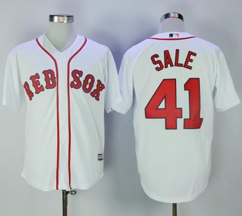 Red Sox #41 Chris Sale White New Cool Base Stitched MLB Jersey