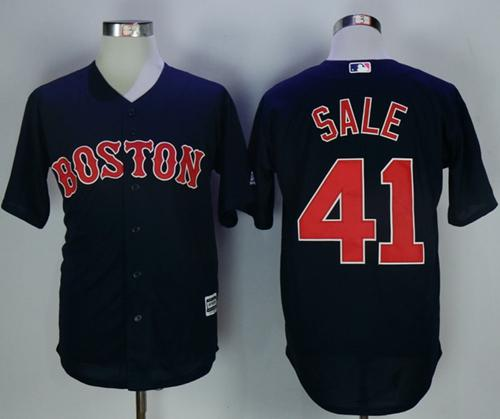 Red Sox #41 Chris Sale Navy Blue New Cool Base Stitched MLB Jersey