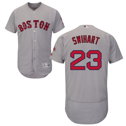 Red Sox #23 Blake Swihart Grey Flexbase Authentic Collection Stitched MLB Jersey
