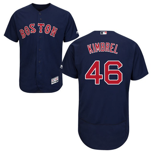 Red Sox #46 Craig Kimbrel Navy Blue Flexbase Authentic Collection Stitched MLB Jersey