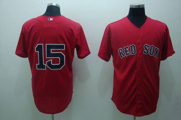 Red Sox #15 Dustin Pedroia Stitched Red MLB Jersey