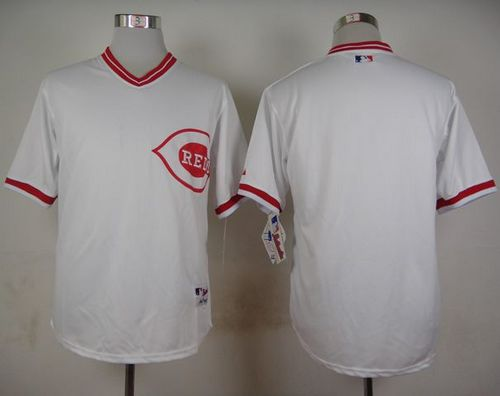 Reds Blank White 1990 Turn Back The Clock Stitched MLB Jersey