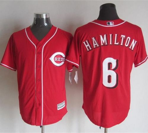 Reds #6 Billy Hamilton Red New Cool Base Stitched MLB Jersey