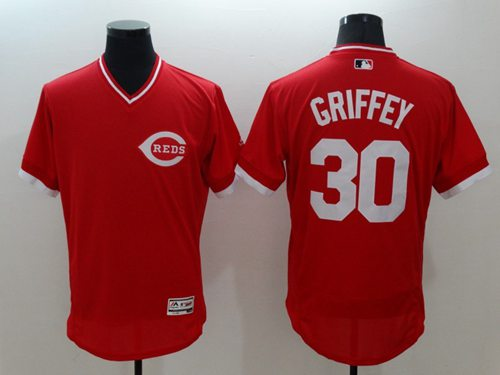 Reds #30 Ken Griffey Red Flexbase Authentic Collection Cooperstown Stitched MLB Jersey