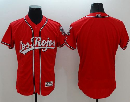 Reds Blank Red Flexbase Authentic Collection Los Rojos Stitched MLB Jersey