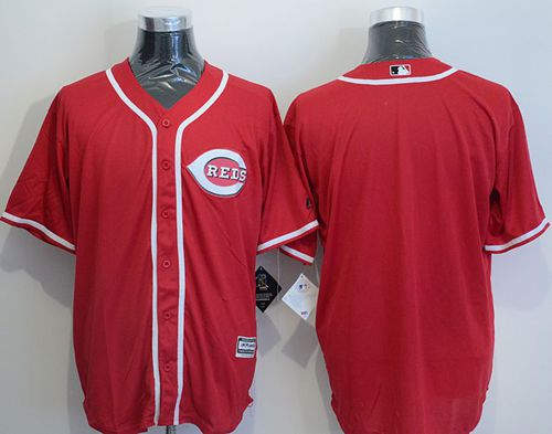 Reds Blank Red New Cool Base Stitched MLB Jersey