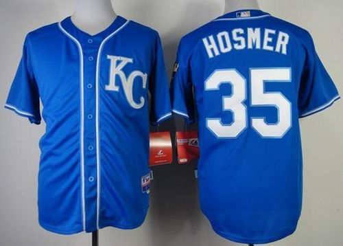 Royals #35 Eric Hosmer Blue Alternate 2 Cool Base Stitched MLB Jersey