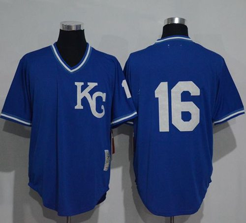 Mitchell And Ness 1989 Royals #16 Bo Jackson Blue Throwback Stitched MLB Jersey