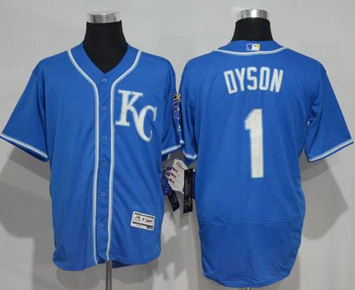 Royals #1 Jarrod Dyson Royal Blue Flexbase Authentic Collection Stitched MLB Jersey
