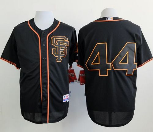 Giants #44 Willie McCovey Black Alternate Cool Base Stitched MLB Jersey