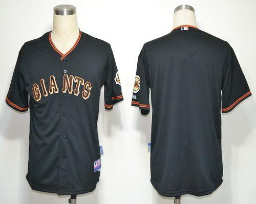 Giants Blank Black Cool Base Stitched MLB Jersey