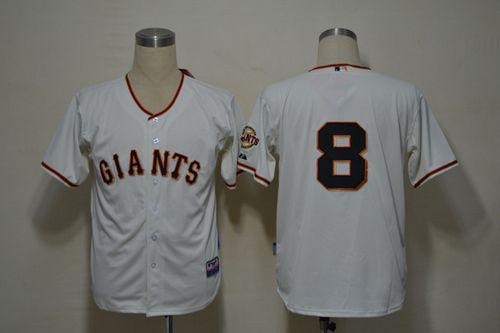 Giants #8 Hunter Pence Cream Cool Base Stitched MLB Jersey