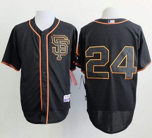 Giants #24 Willie Mays Black Alternate Cool Base Stitched MLB Jersey