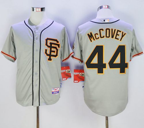 Giants #44 Willie McCovey Grey Cool Base Stitched MLB Jersey
