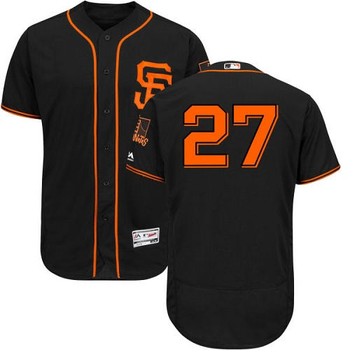 Giants #27 Juan Marichal Black Flexbase Authentic Collection Alternate Stitched MLB Jersey