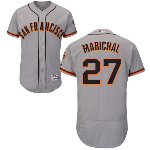 Giants #27 Juan Marichal Grey Flexbase Authentic Collection Road Stitched MLB Jersey
