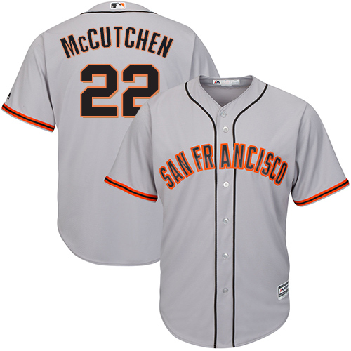 Giants #22 Andrew McCutchen Grey New Cool Base Road Stitched MLB Jersey