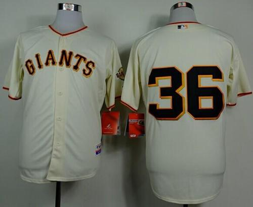 Giants #36 Gaylord Perry Cream Home Cool Base Stitched MLB Jersey