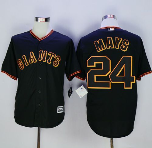 Giants #24 Willie Mays Black New Cool Base Fashion Stitched MLB Jersey