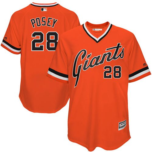 Giants #28 Buster Posey Orange 1978 Turn Back The Clock Stitched MLB jerseys