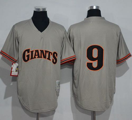 Mitchell And Ness 1989 Giants #9 Matt Williams Grey Throwback Stitched MLB jerseys