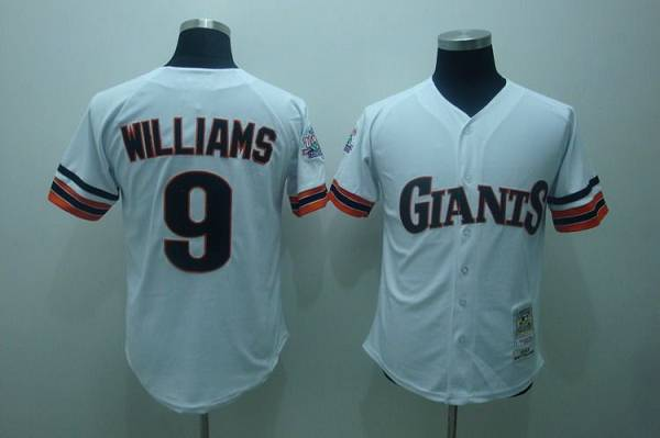 Mitchell and Ness 1989 Giants #9 Matt Williams Stitched White Throwback MLB Jersey
