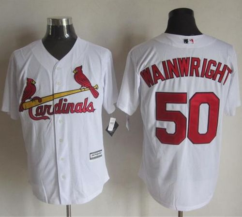 Cardinals #50 Adam Wainwright White New Cool Base Stitched MLB Jersey