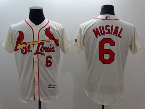 finest selection bbcde 61167 Cardinals #6 Stan Musial Cream Flexbase Authentic Collection ...