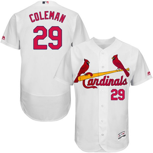 Cardinals #29 Vince Coleman White Flexbase Authentic Collection Stitched MLB Jersey