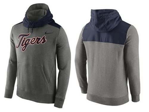Men's Detroit Tigers Nike Gray Cooperstown Collection Hybrid Pullover Hoodie