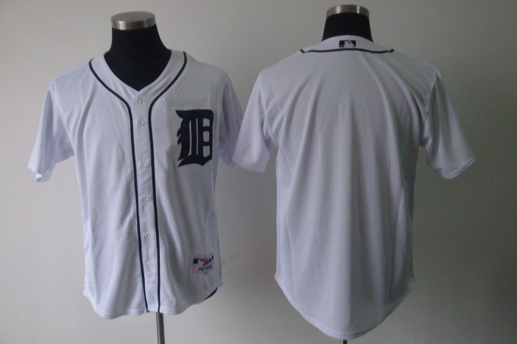 Tigers Blank White Cool Base Stitched MLB Jersey