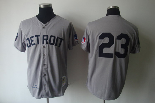 Mitchell And Ness 1969 Tigers #23 Willie Horton Grey Stitched MLB Jersey
