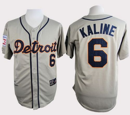 Tigers #6 Al Kaline Grey Cooperstown Throwback Stitched MLB Jersey